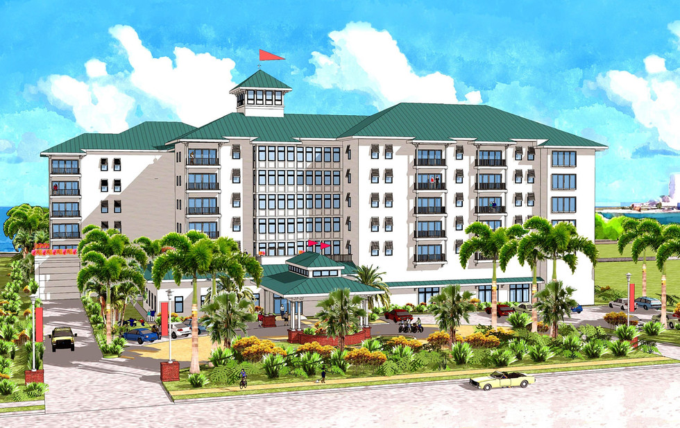 Bluepoints Marina Hotel at Port Canaveral - Scallop Drive Rendering