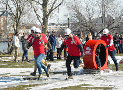 Syracuse Winterfest Human Dogsled Race
