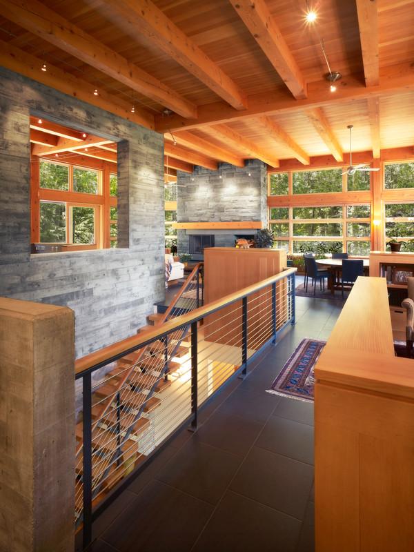 Ithaca Residence - Retaining Wall Kitchen Window