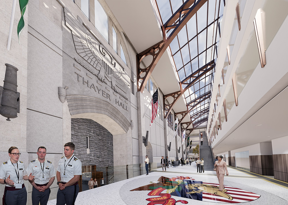 United States Military Academy at West Point - Thayer Hall Renovation and Expansion, Grand Concourse Rendering