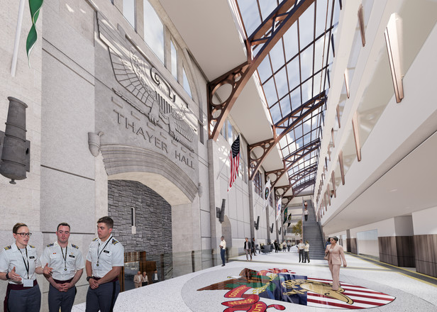 West Point Military Academy - Thayer Hall Renovation - Proposed Grand Atrium