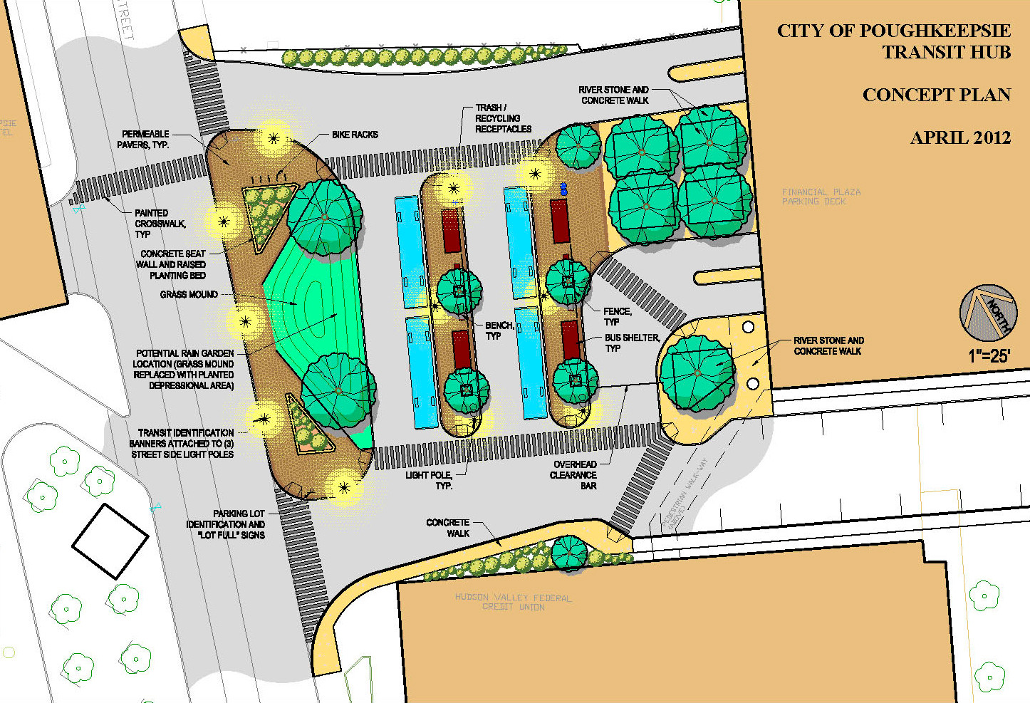 City of Poughkeepsie Bus Transit Hub - Site Plan