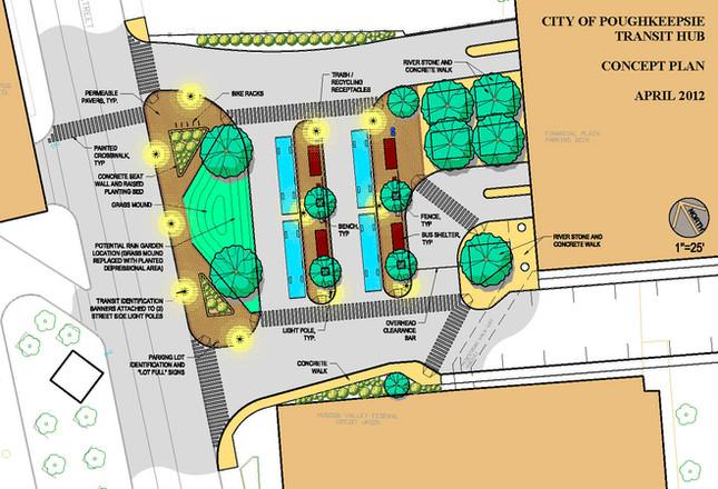 City of Poughkeepsie Bus Transit Hub - Site Plan