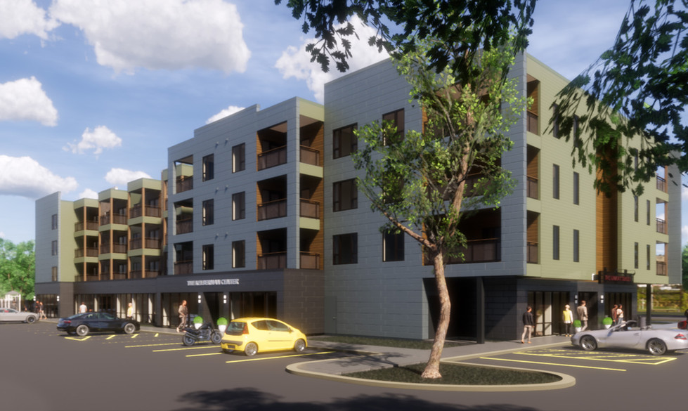 The Link at Sunset Apartments - Exterior Rendering