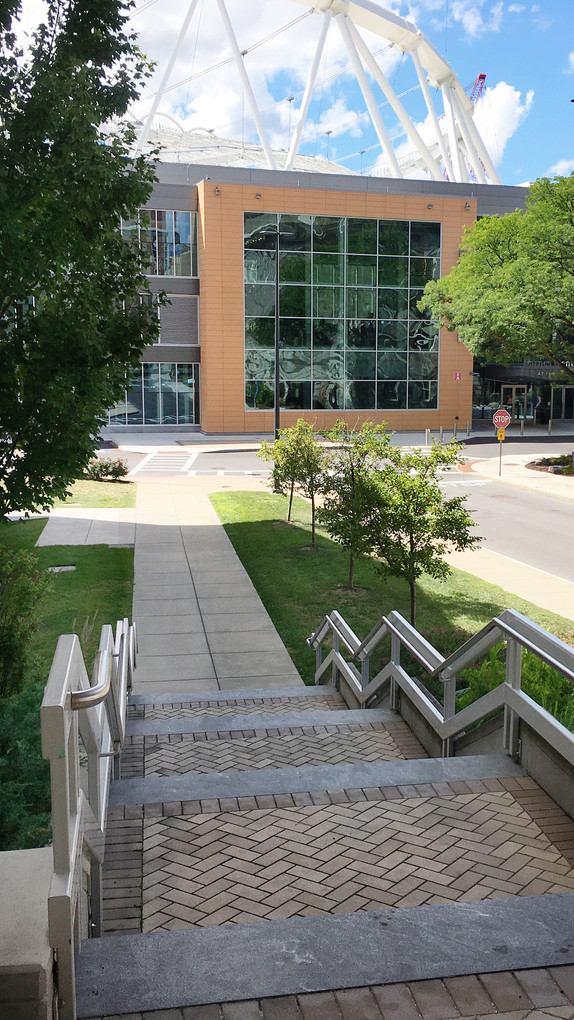 Syracuse University Sims Drive - Stairs Towards Carrier Dome