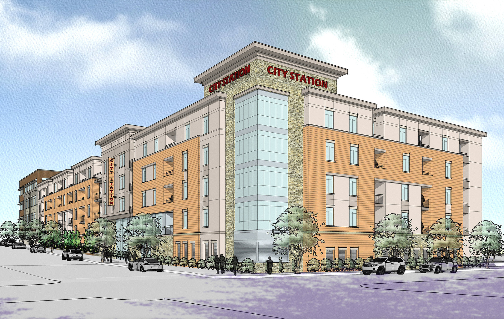 City Station North - Exterior Rendering