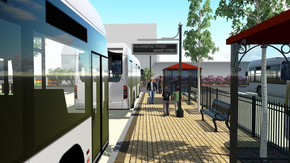 City of Poughkeepsie Bus Transit Hub - Bus Platform