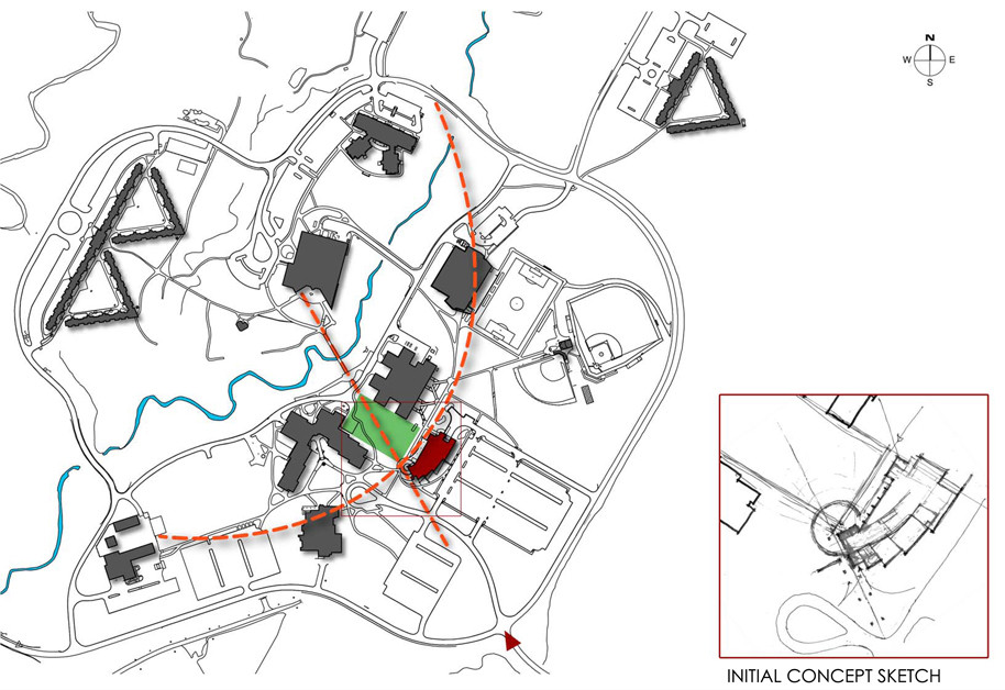SUNY Institute of Technology Student Center - Site Diagram