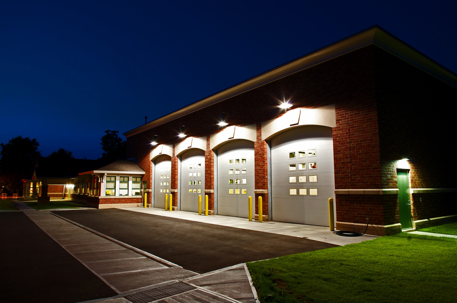 Skaneateles Fire Station - Exterior - Garage Doors Closed