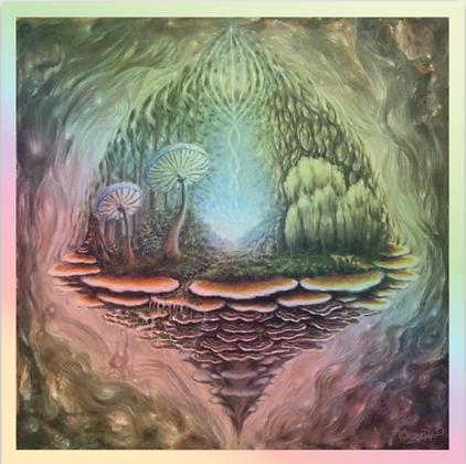 'Forest Bathing' Holographic Vinyl Sticker