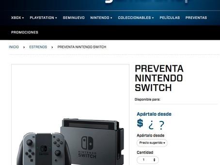 """Dan a conocer precio """"sugerido"""" de Nintendo Switch en México"""