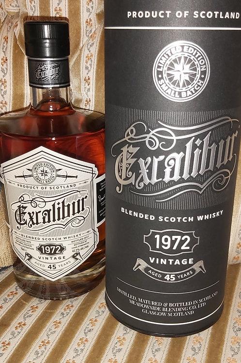 Excalibur 1972 , 45 Y. Blended Malt Whisky