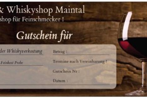 Gutschein für ein Wein /Whisky Tasting