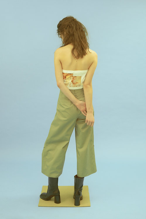 Sage Trench Boxy  Trousers