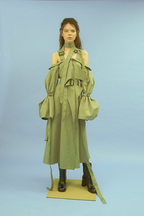 Sage Trench Dress