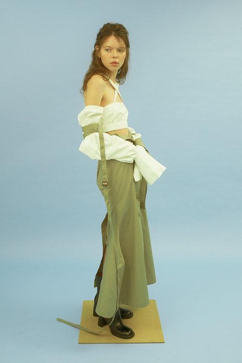 Sage Ankle-Length Mermaid Skirt