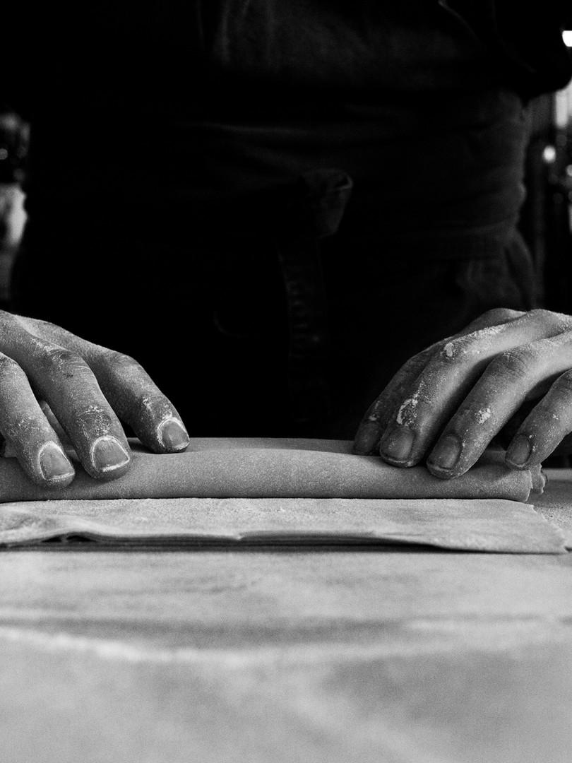 Steve rolling pasta