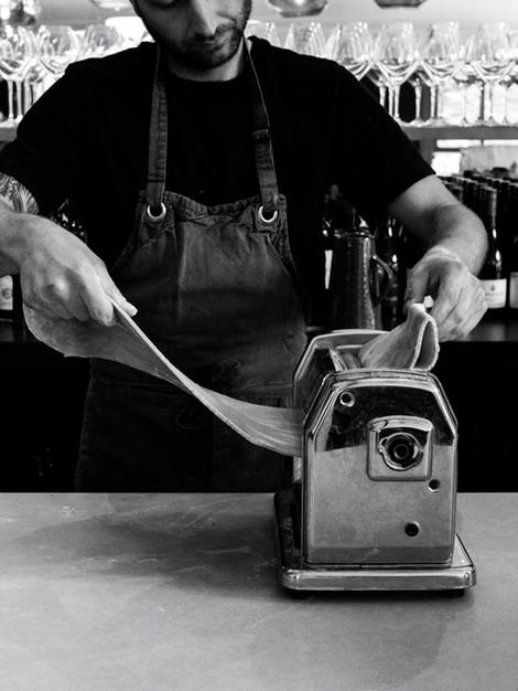 Steve making pasta
