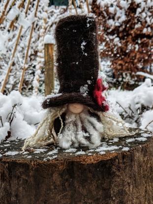 Handmade felted gnomes