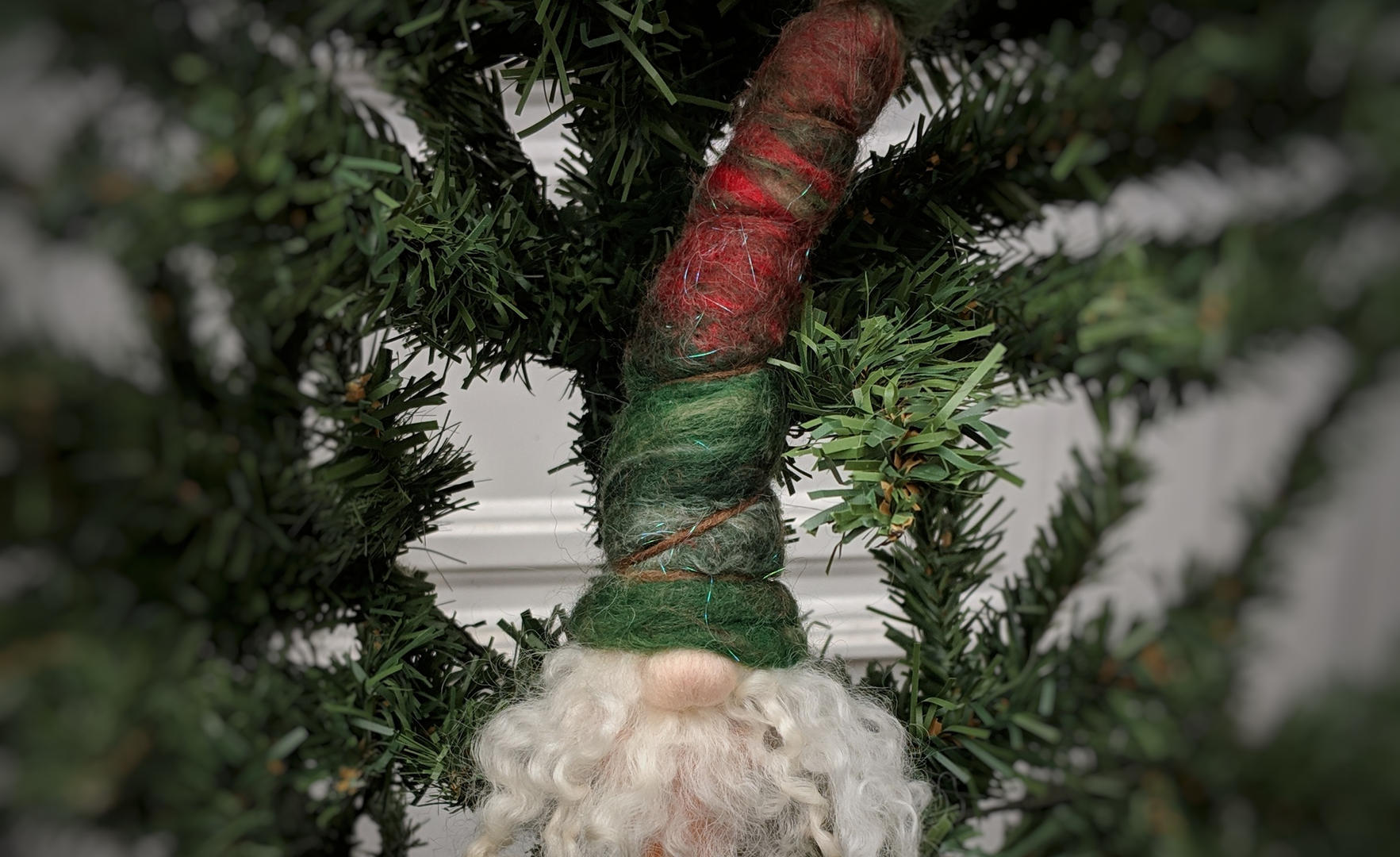 Potted Christmas Gnome Ornament