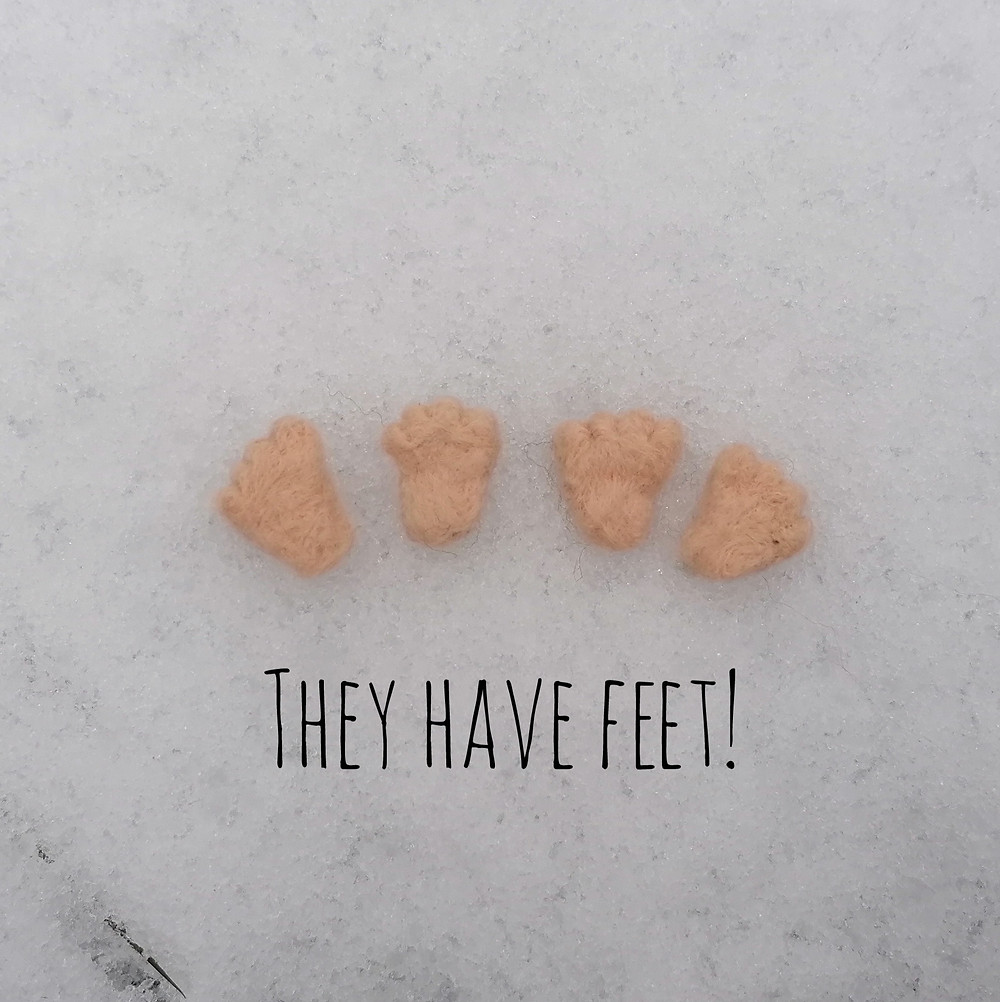 Hand felted gnome feet from Gnomes for your homes