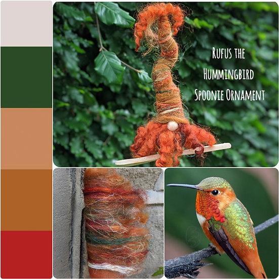 Rufus the Hummingbird Spoonie Ornament
