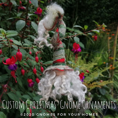 Custom Christmas Gnome Ornaments Made just for you, hand felted.