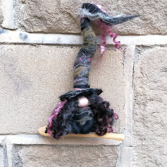 Ellhorn Witch of the Elderberry, Spoonie Gnome Halloween Ornament