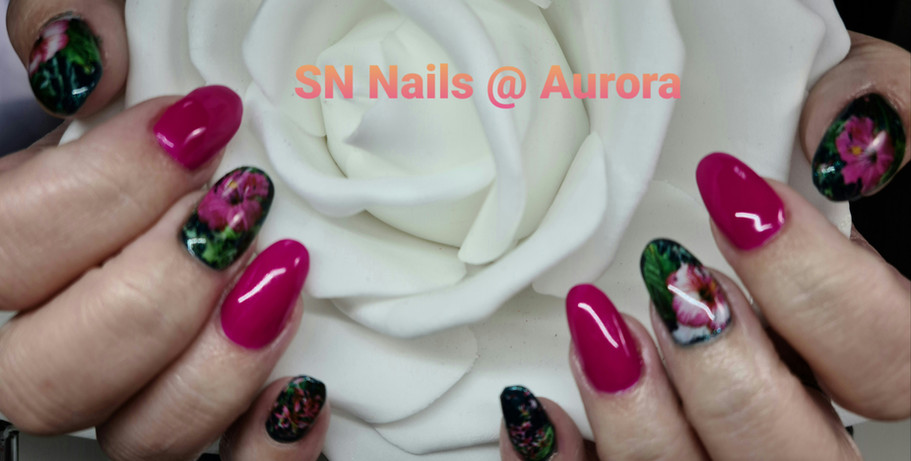 Tropical Design Nails, SN Nails, South Shields