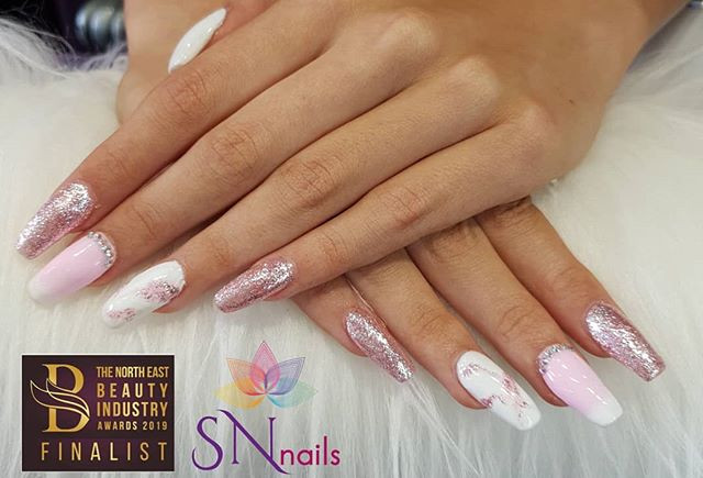 Pink & White Nails, SN Nails, South Shields