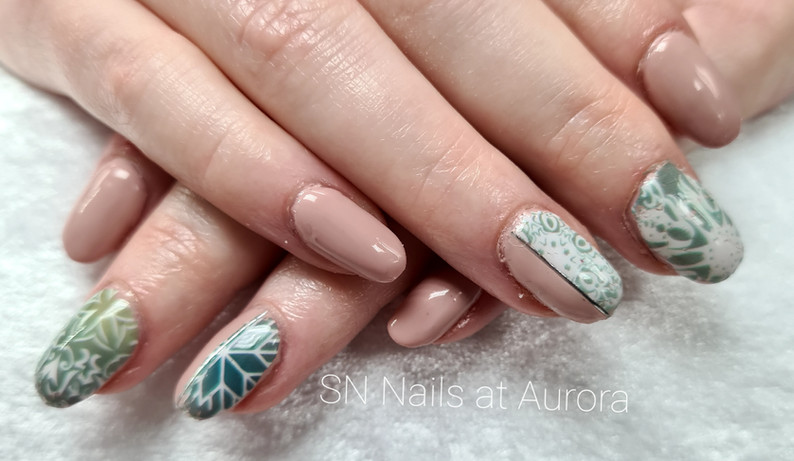 Nude winter nails, SN Nails, South Shields