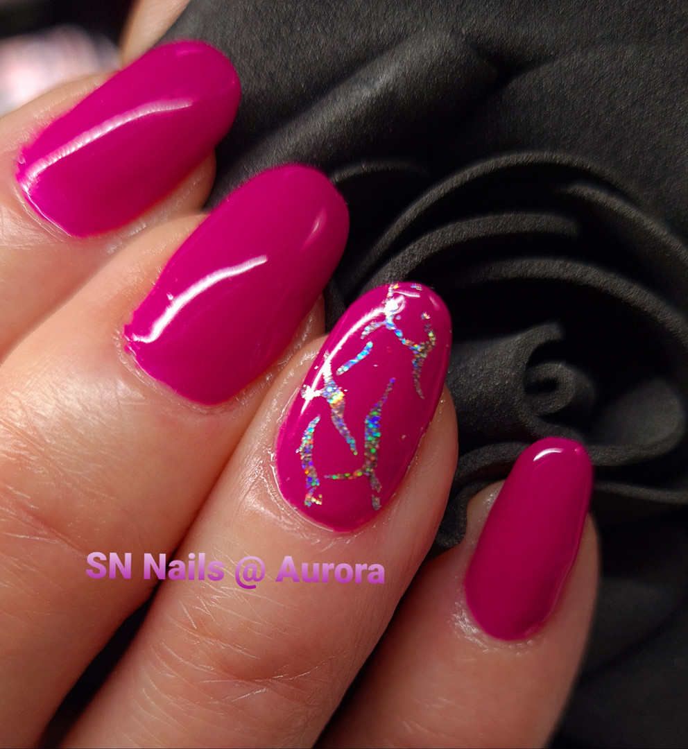 Neon pink nails, SN Nails, South Shields