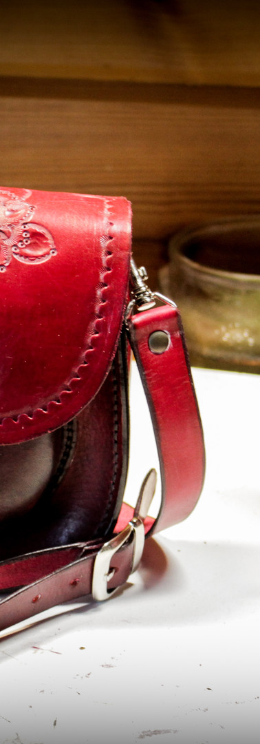 Leatherbound Journal and Small Red Purse