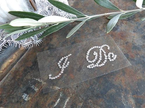 """Stickers """"I DO""""  cristal"""