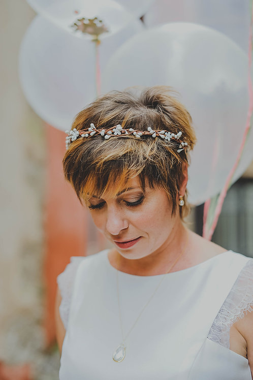 "Headband couronne ""Marina"""