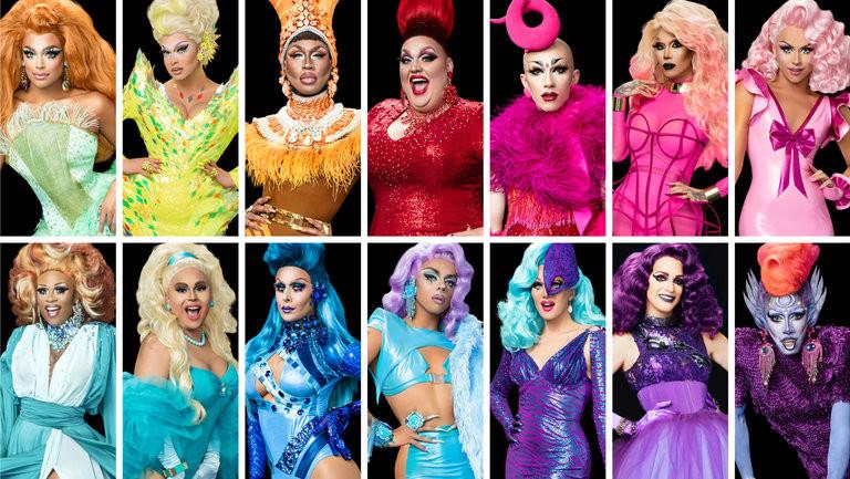 Drag queens from Rupaul's Drag Race