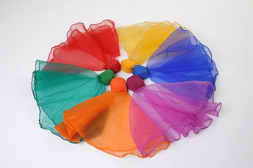 Lot de 6 foulards lestes