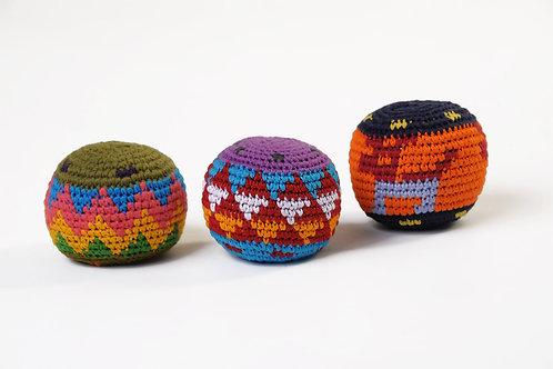 Balles rasta multicolores x3