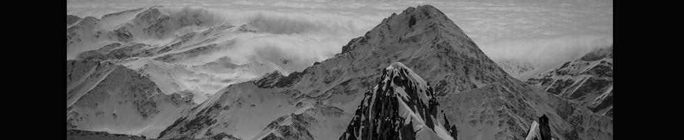 Poster 15 Monte Bianco inverno B-N mare