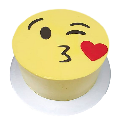 Kiss: Emoji Piñata Cake - Caramel Flavour