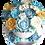 Thumbnail: Blue Bouquet: Floral Piñata Cake - Blue Velvet Flavour