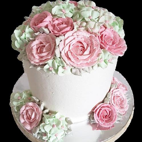 Pink Bouquet: Floral Piñata Cake - Red Velvet Flavour