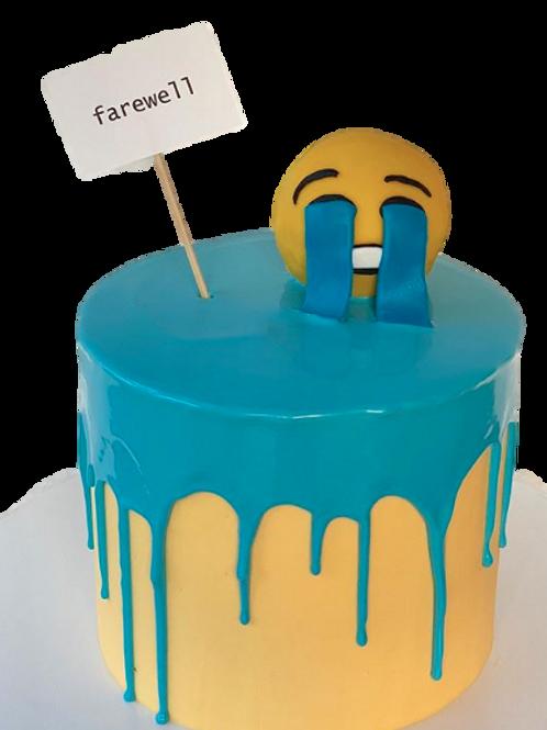 Crying: Emoji Piñata Cake - Caramel Flavour