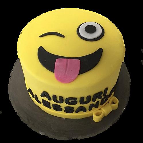 Naughty: Emoji Piñata Cake - Caramel Flavour
