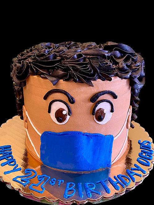 Face Mask: Emoji Piñata Cake - Chocolate Walnut Flavour