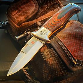 自然光でナイフを撮影する