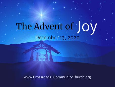 The Advent of joy