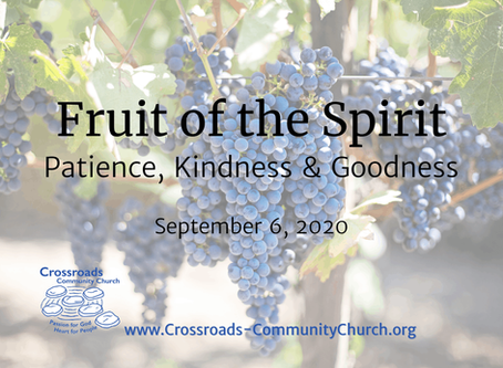 Fruit of the Spirit: Patience, Kindness and Goodness