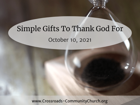 Simple Gifts To Thank God For
