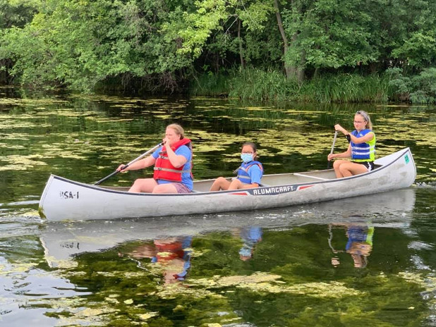 Unit 4 does a great job canoeing